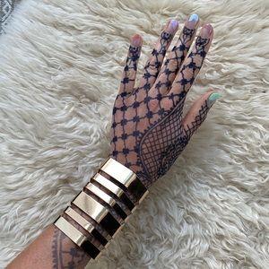 Zara Gold Cutout Large Cuff Bracelet
